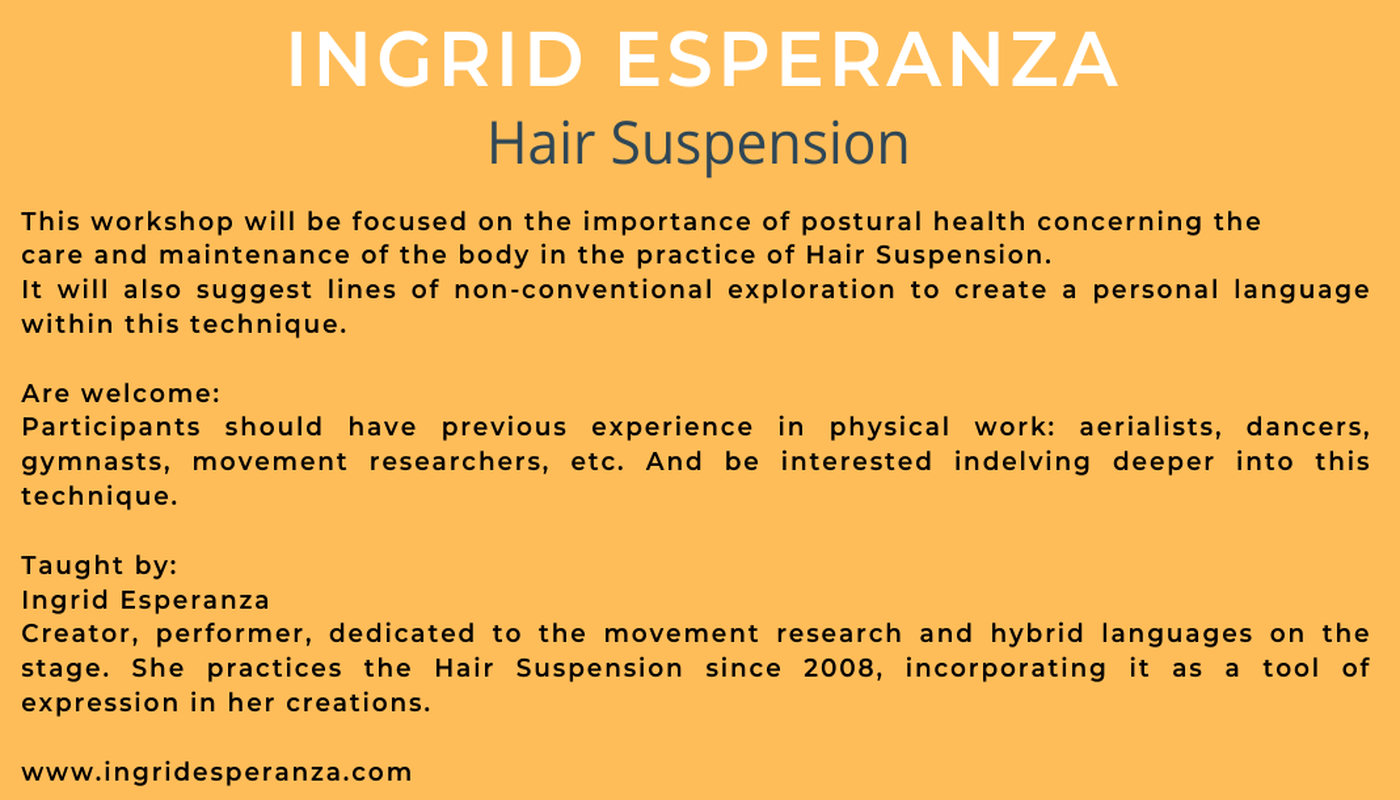 Hair Sospension Master Class with Ingrid Esperanza - Circus Events - CircusTalk