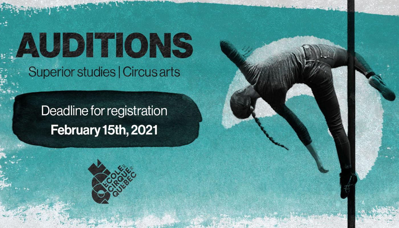 Registrations for the École de cirque de Québec's auditions - Circus Events - CircusTalk