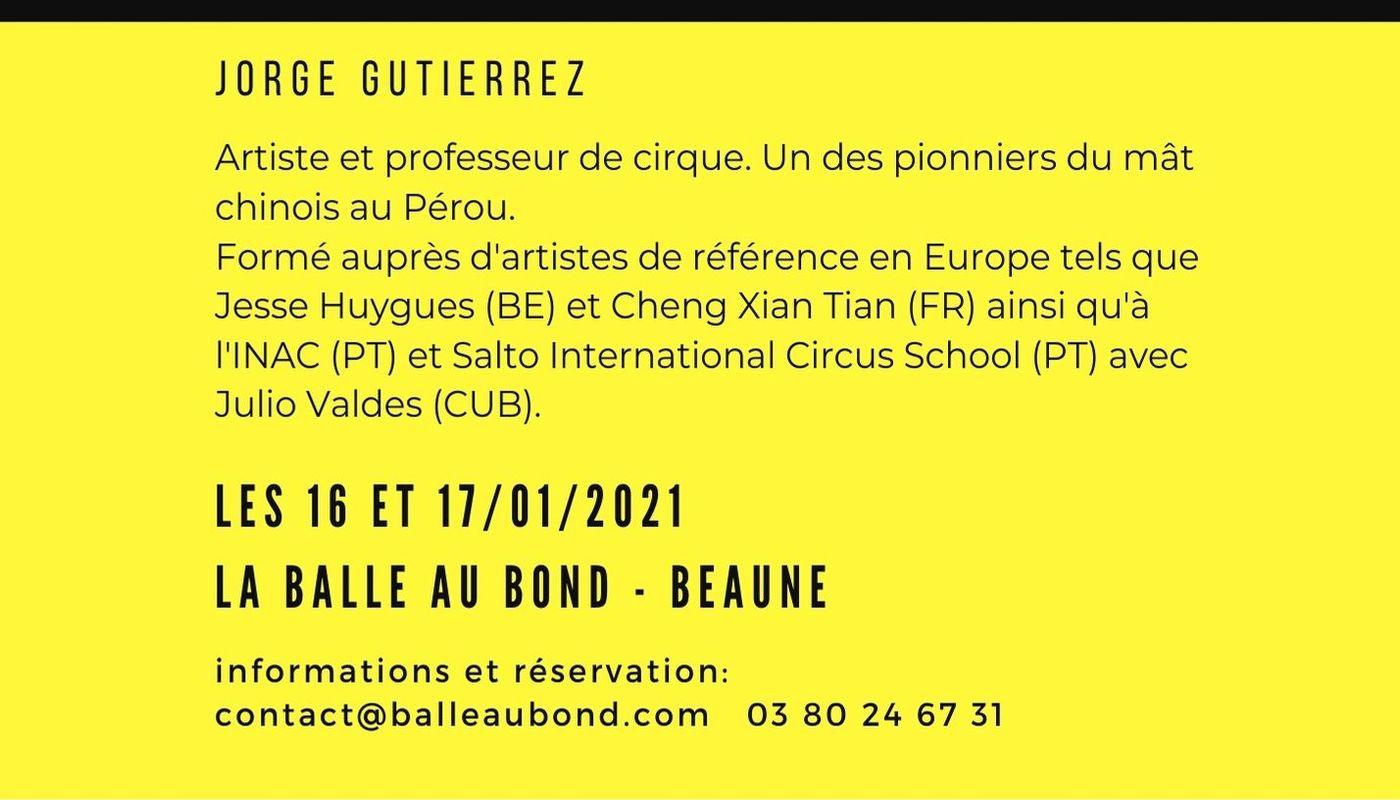 Stage Mât Chinois avec Jorge Gutierrez - Circus Events - CircusTalk