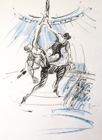 Drawn into Circus! Live performance sketching workshop - Circus Events - CircusTalk
