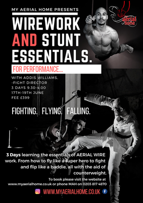 Wirework and Stunt Essentials for performance- 17th-19th June - Circus Events - CircusTalk