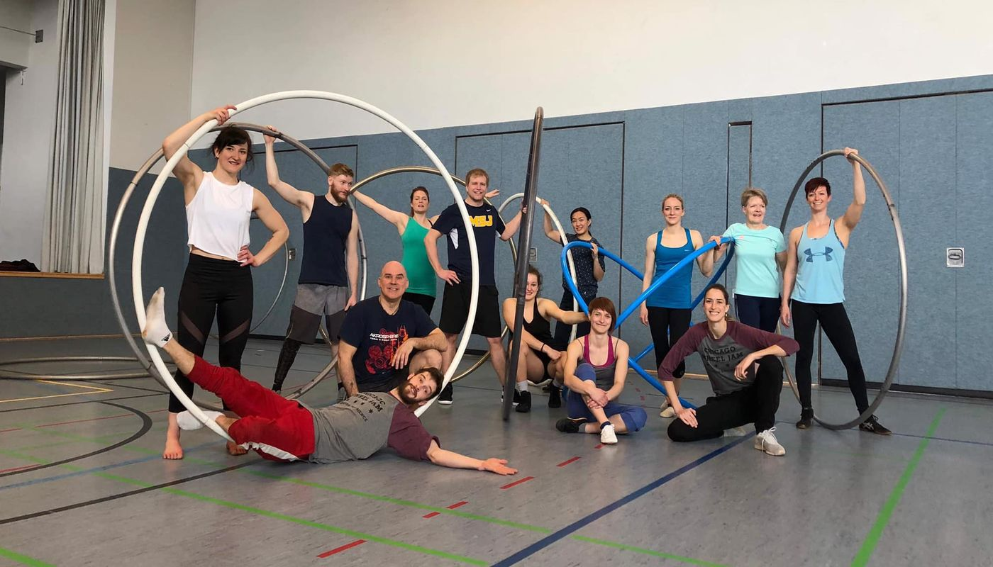Cyr Wheel Open Gym - Circus Events - CircusTalk