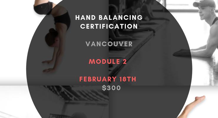Hand Balancing Module 2 - Circus Events - CircusTalk