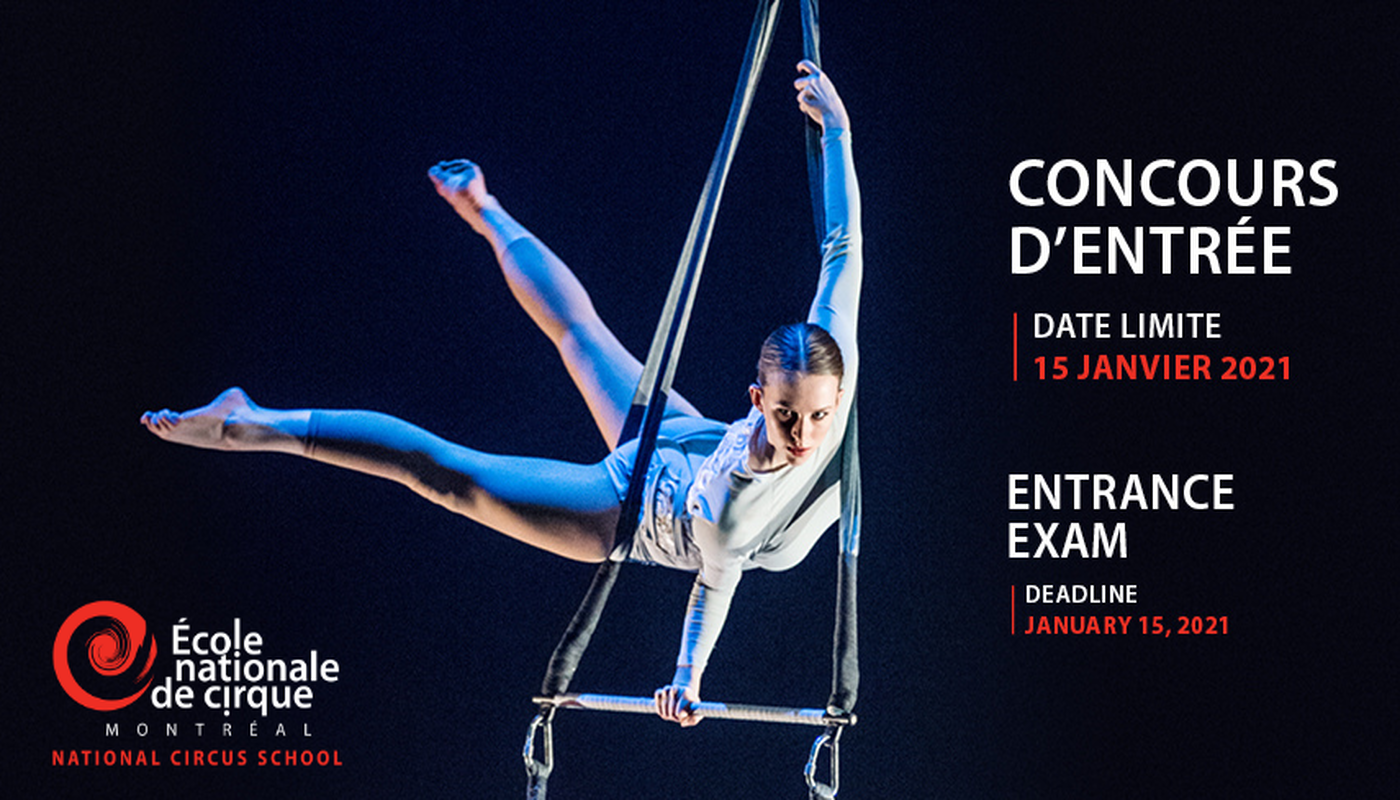 2021 Online Audition Registration - National Circus School - Circus Events - CircusTalk