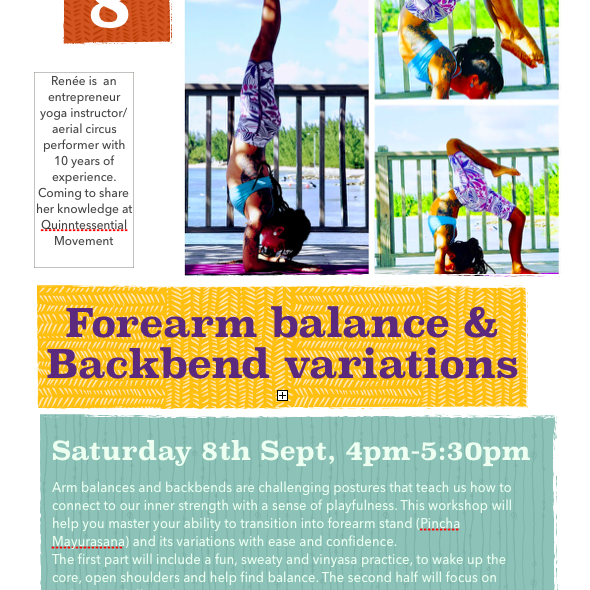 Forearm balance & backbend variations workshop - Circus Events - CircusTalk