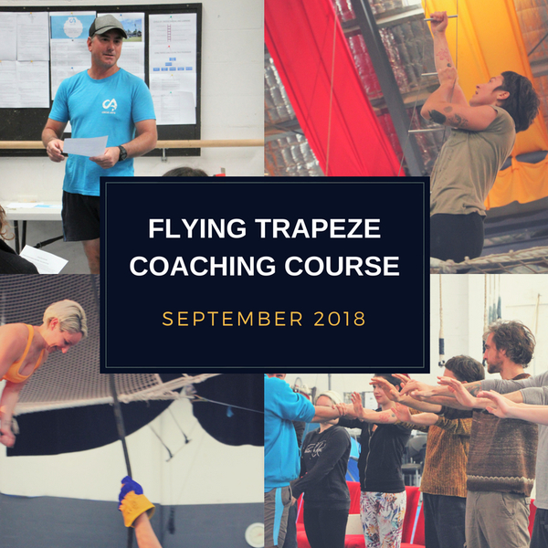 Flying Trapeze Coaching Course - Stage 1 - Circus Events - CircusTalk