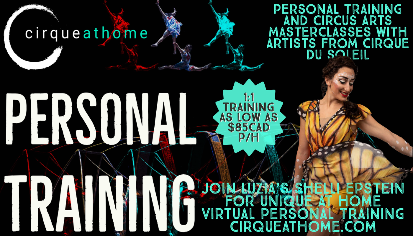 CIRQUEATHOME PERSONAL TRAINING with SHELLI - Circus Events - CircusTalk