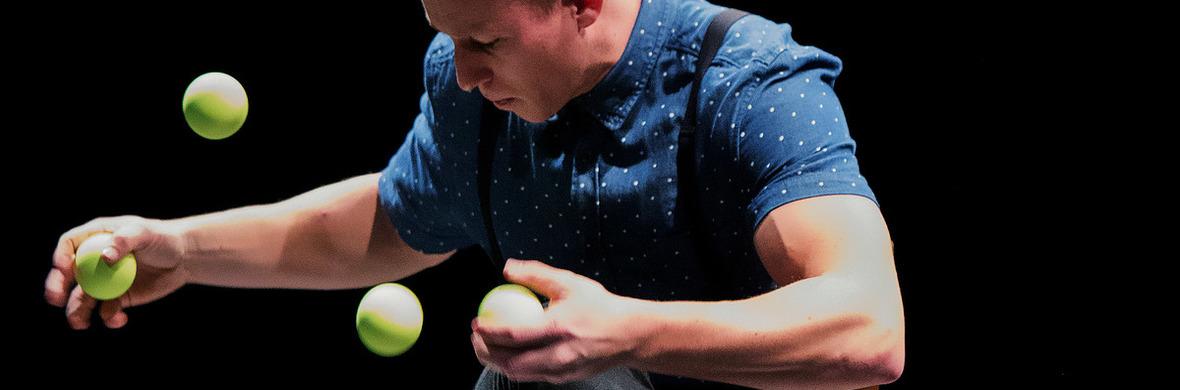 8 balls, and a chair - Circus Acts - CircusTalk