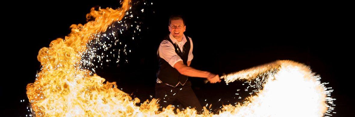 Black & White firedance show - Circus Shows - CircusTalk