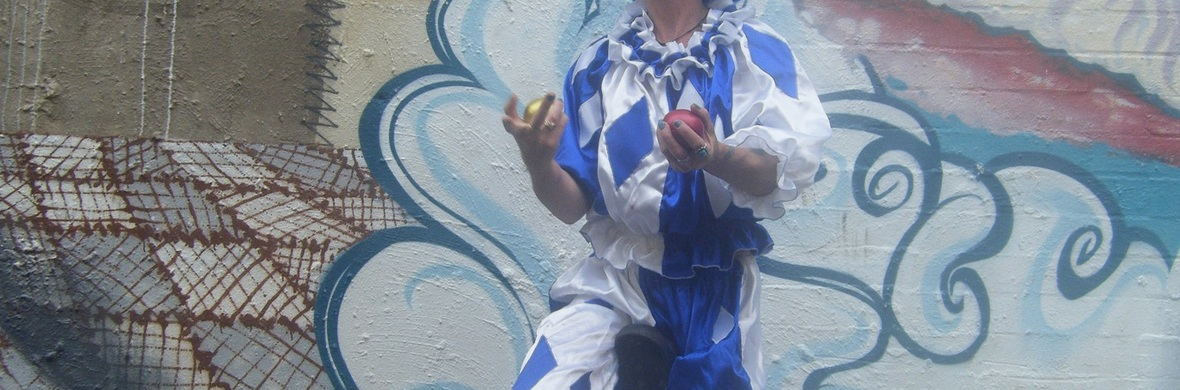 blueberry juggling on unicycle - Circus Acts - CircusTalk