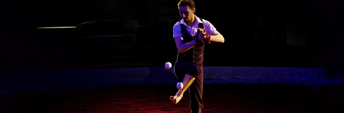 Juggling with feet and tied hands - Circus Acts - CircusTalk