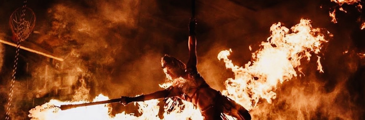 Aerial Straps and Fire Stunts - Circus Acts - CircusTalk