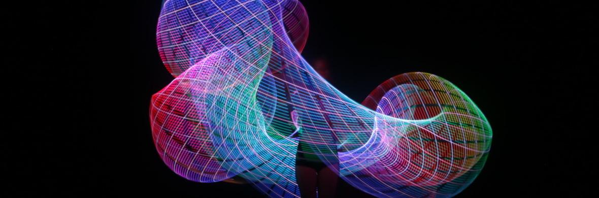Duo Avo: High Tech Hula Hooping + Juggling (Colour Programmed) - Circus Acts - CircusTalk